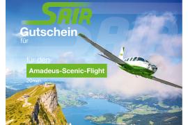 Gutschein Amadeus Tour - Rundflug Flug ca. 20 Minuten