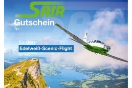 Gift certificate Edelweiß-Scenic-Flight - Sightseeing Flight 60 Minutes