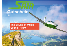 Gutschein The Sound of Music Flight - Rundflug Flug ca. 35 Minuten