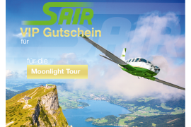 Gift certificate Moonlight-Tour - Sightseeing Flight 30 Minutes