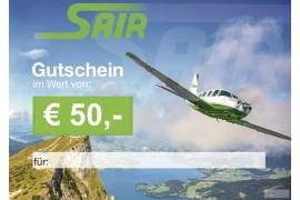 Gutschein EURO 50,- Flugbaustein